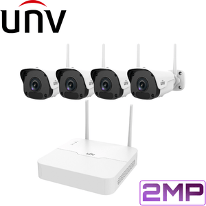 Uniview 4 Channel WiFi Security Kit: 2MP NVR, 4 x 2MP Bullet Cameras, 1TB HDD