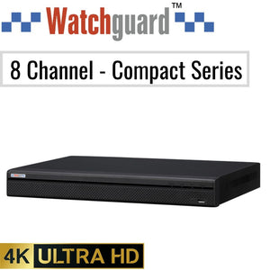 Watchguard Compact 8 Channel Network Video Recorder: 8MP (4K) Ultra HD