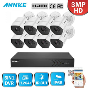 Annke 16 Channel Security System: 1080P HD 5-in-1 DVR, 8 x 3MP Bullet Cameras