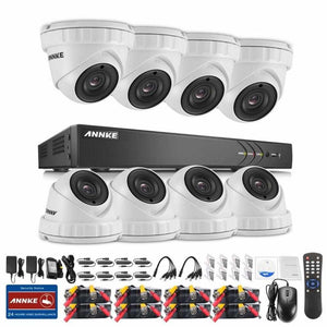 Annke 16 Channel Security System: 1080P HD 5-in-1 DVR, 8 x 3MP Dome Cameras