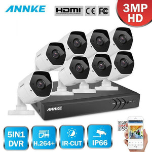 Annke 8 Channel Security System: 1080P HD 5-in-1 DVR, 8 X 3MP Bullet Cameras