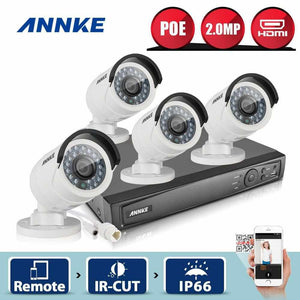 Annke 4 Channel Security System: 6MP Super HD NVR, 4 x 2MP Bullet Cameras