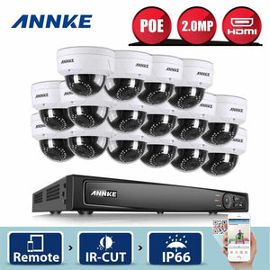 Annke 16 Channel Security System: 6MP Super HD NVR, 16 x 2MP Dome Cameras