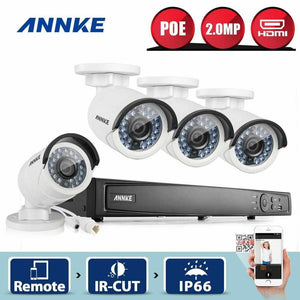 Annke 8 Channel Security System: 6MP Super HD NVR, 4 x 2MP Bullet Cameras