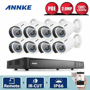 Annke 8 Channel Security System: 6MP Super HD NVR, 8 x 2MP Bullet Cameras