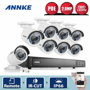 Annke 16 Channel Security System: 6MP Super HD NVR, 8 x 2MP Bullet Cameras