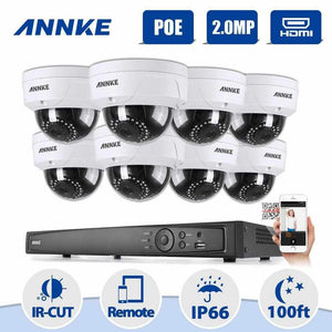 Annke 8 Channel Security System: 6MP Super HD NVR, 8 x 2MP Dome Cameras