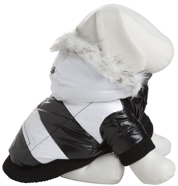 Fashion Striped Ultra-Plush Pet Parka Coat