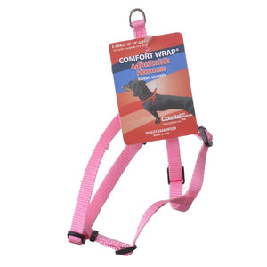 Tuff Collar Comfort Wrap Nylon Adjustable Harness - Bright Pink