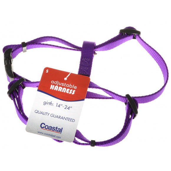 Tuff Collar Nylon Adjustable Harness - Purple