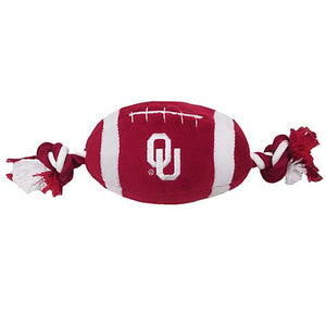 Oklahoma Sooners Nylon Football Dog Toy - Yip & Purr® Official Website