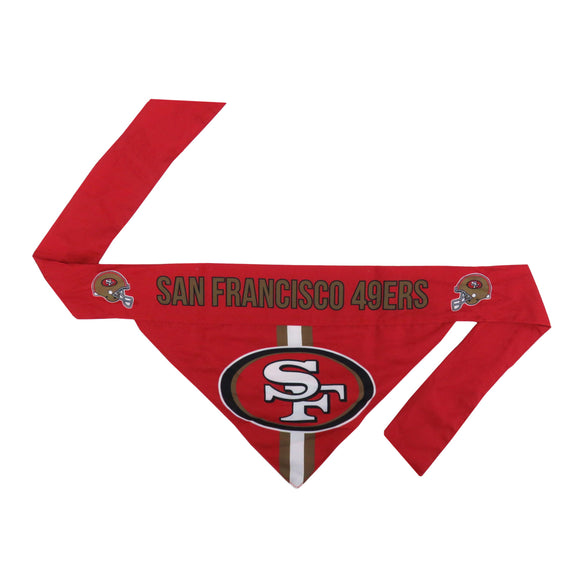 San Francisco 49ers Pet Bandana- Tie On - Yip & Purr® Official Website