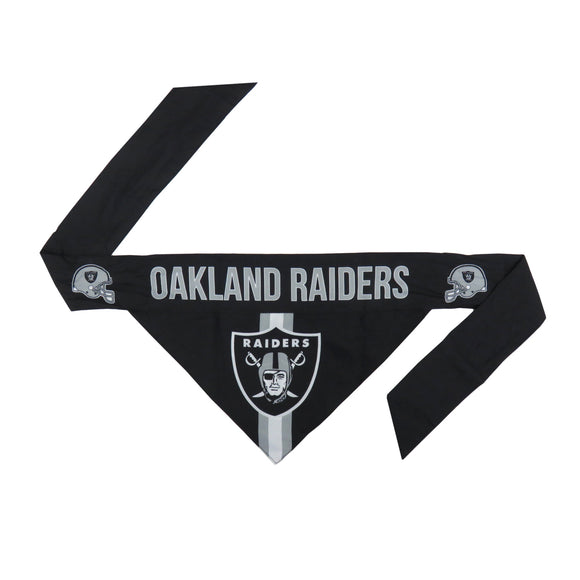 Oakland Raiders Pet Bandana- Tie On - Yip & Purr® Official Website