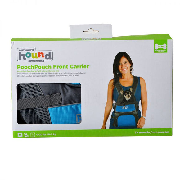 Outward Hound Pet-A-Roo Front Style Pet Carrier - Blue