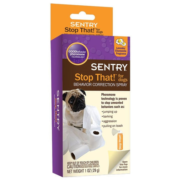 Sentry Stop That! Noise & Pherimone Spray for Dogs