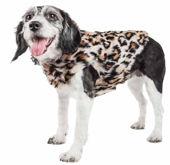 Pet Life ?? Luxe 'Lab-Pard' Dazzling Leopard Patterned Mink Fur Dog Coat Jacket - Yip & Purr?? Official Website
