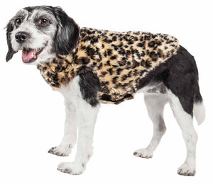 Pet Life ?? Luxe 'Poocheetah' Ravishing Designer Spotted Cheetah Patterned Mink Fur Dog Coat Jacket - Yip & Purr?? Official Website