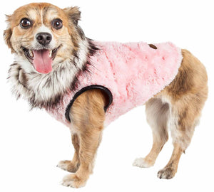 Pet Life ?? Luxe 'Pinkachew' Charming Designer Mink Fur Dog Coat Jacket - Yip & Purr?? Official Website