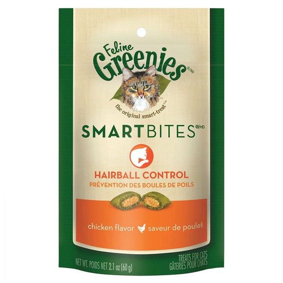 Greenies SmartBites Hairball Control Chicken Flavor Cat Treats