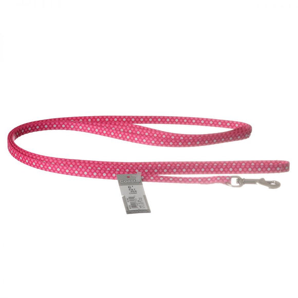 Pet Attire Styles Polka Dot Pink Dog Leash