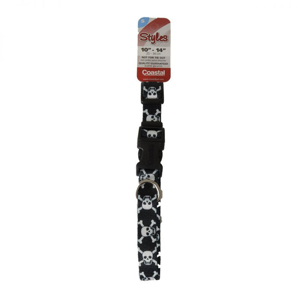 Pet Attire Styles Skulls Adjustable Dog Collar