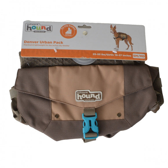 Outward Hound Denver Urban Pack for Dogs - Brown