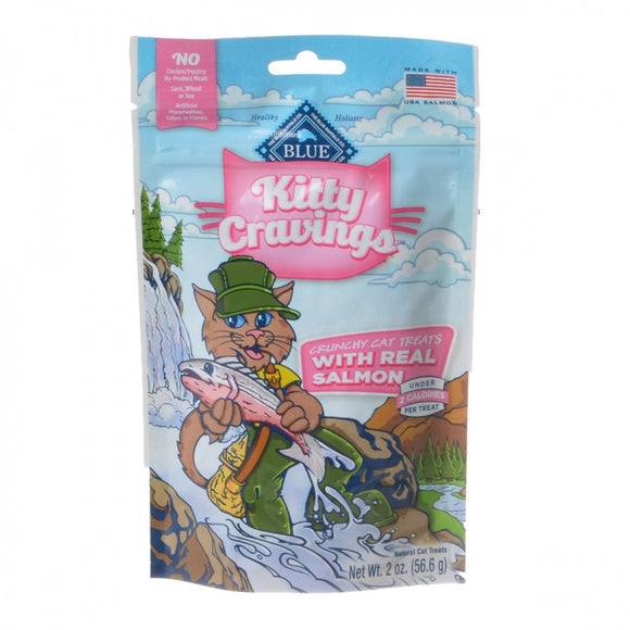 Blue Buffalo Kitty Cravings Crunchy Cat Treats - Real Salmon