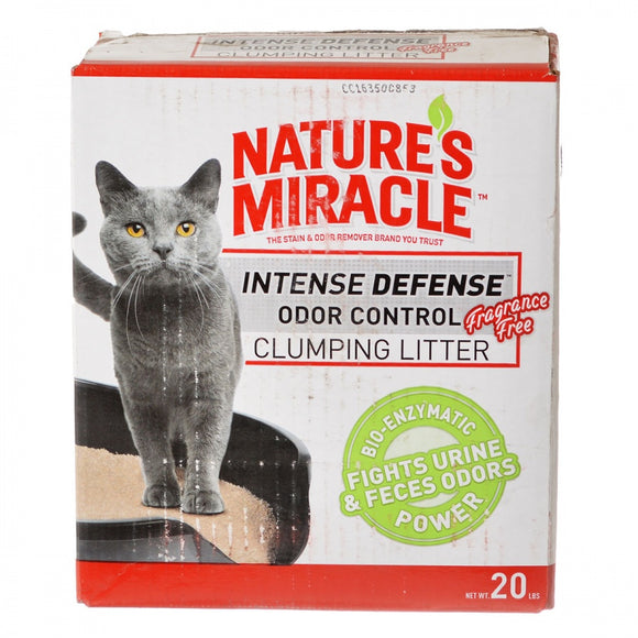 Nature's Miracle Intense Defense Odor Control Clumping Litter - Unscented