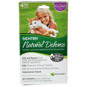 Sentry Natural Defense Flea & Tick Squeeze-On for Cats & Kittens