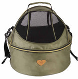 Pet Life ® 'Air-Venture' Dual-Zip Airline Approved Panoramic Circular Travel Pet Dog Carrier