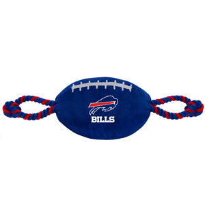 Buffalo Bills Nylon Football with Rope Toy