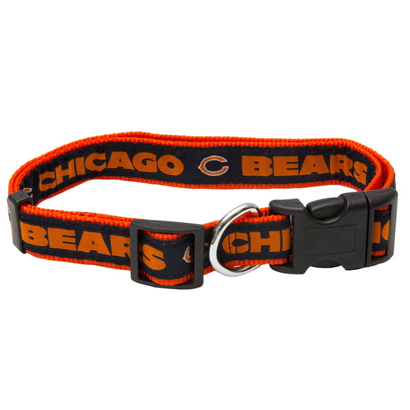 Chicago Bears Dog Collar - Ribbon - Yip & Purr® Official Website
