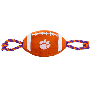 Clemson nylon Football Dog Toy - Yip & Purr® Official Website