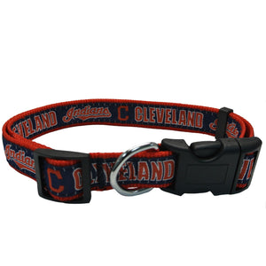 Cleveland Indians Collar- Ribbon - Yip & Purr® Official Website