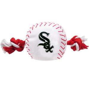 Chicago White Sox Baseball Toy - Nylon w/rope - Yip & Purr® Official Website