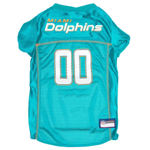 Miami Dolphins Pet Jersey - Orange Trim - Yip & Purr® Official Website