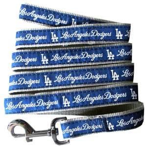 Los Angels Dodgers Leash- Ribbon - Yip & Purr® Official Website
