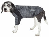 Pet Life ® Active 'Chewitt Wagassy' 4-Way Stretch Performance Long Sleeve Dog T-Shirt