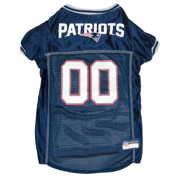 New England Patriots Pet Jersey - Gray Trim - Yip & Purr® Official Website