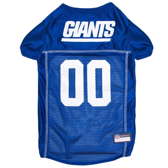 New York Giants Pet Jersey - Blue Trim - Yip & Purr® Official Website