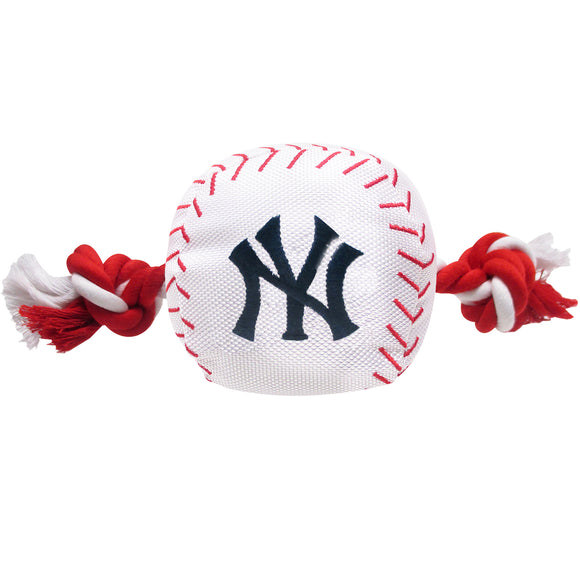 New York Yankees Baseball Toy - Nylon w/rope - Yip & Purr® Official Website
