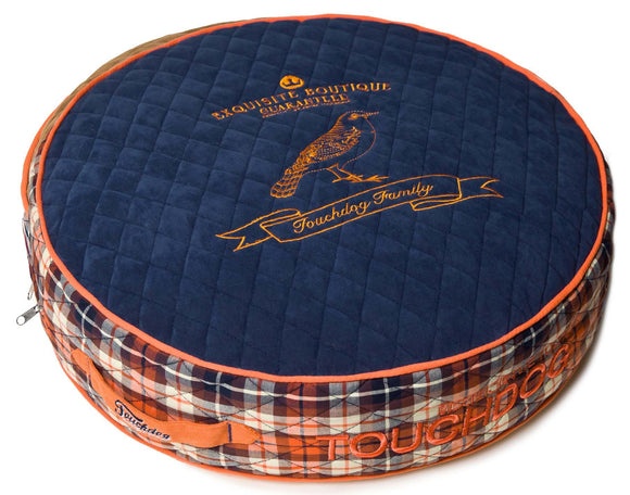 Touchdog Bark-Royale Posh Rounded and Raised Designer Fleece Plaid Dog Bed