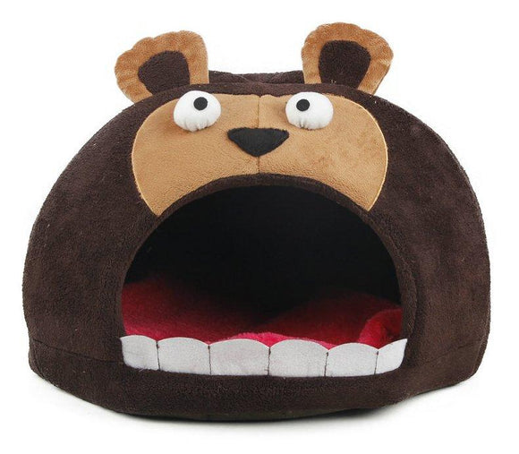 Roar Bear Snuggle Plush Polar Fleece Pet Bed