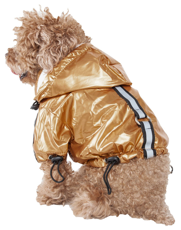 Reflecta-Sport Adjustable Reflective Weather-Proof Pet Rainbreaker Jacket
