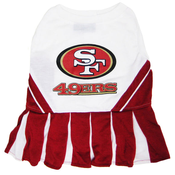 San Francisco 49ers Cheerleader Pet Dress - Yip & Purr® Official Website