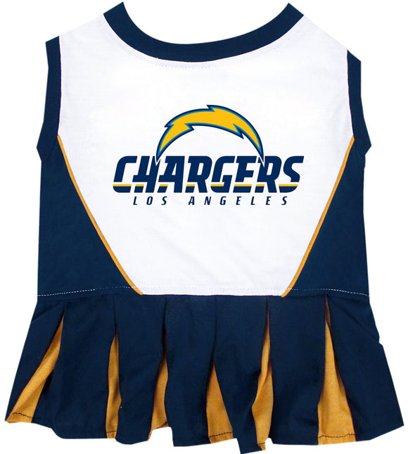 Los Angeles Chargers Cheerleader Pet Dress - Yip   Purr® Official Website 541a95024
