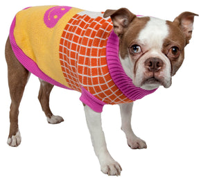 Lovable-Bark Heavy Knit Ribbed Fashion Pet Sweater