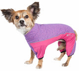 Pet Life ?? Active 'Chase Pacer' Heathered Performance 4-Way Stretch Two-Toned Full Body Warm Up - Yip & Purr?? Official Website