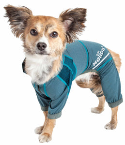 Dog Helios ?? 'Namastail' Lightweight 4-Way Stretch Breathable Full Bodied Performance Yoga Dog Hoodie Tracksuit - Yip & Purr?? Official Website