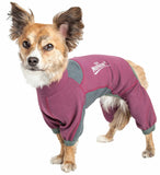 Dog Helios ® 'Rufflex' Mediumweight 4-Way-Stretch Breathable Full Bodied Performance Dog Warmup Track Suit